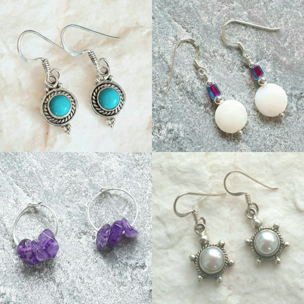 <!-- 001 -->Gemstone Earrings