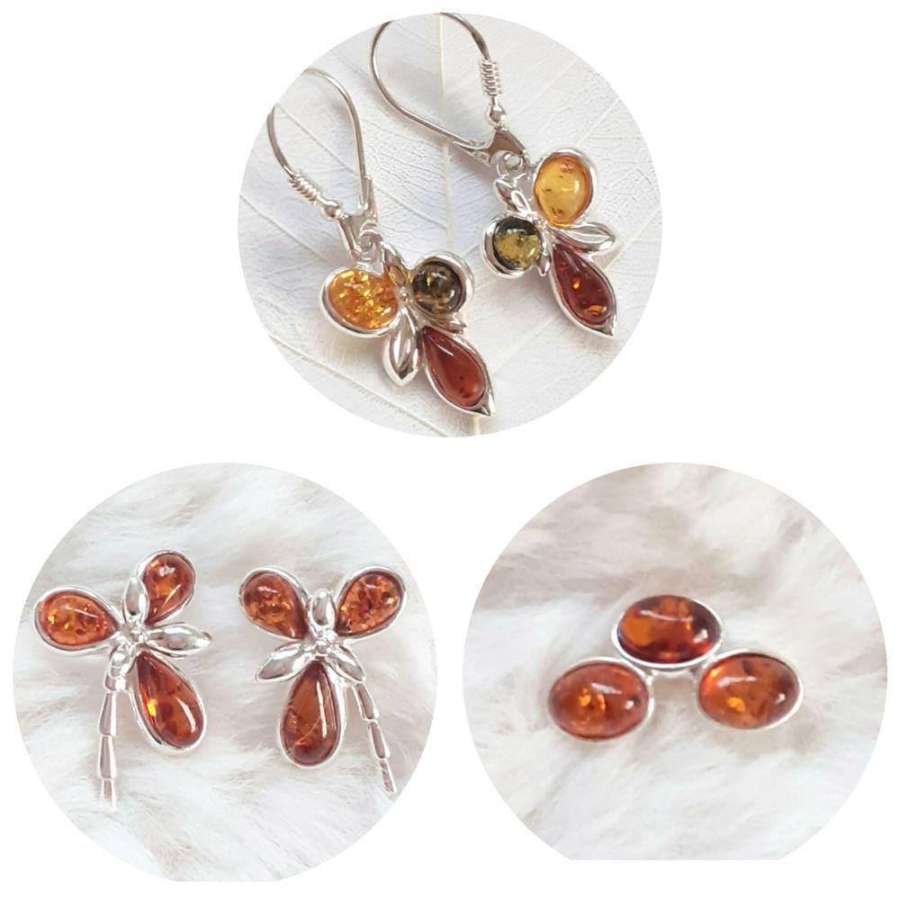 Baltic amber earrings jewellery