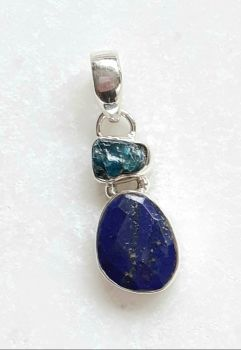 Blue Kyanite Sterling Silver Gemstone Pendant