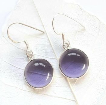 Amethyst Gemstone Double Decorative Earrings