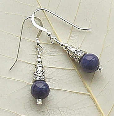lapis bali style earrings