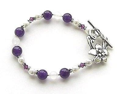 A Gemstone Of Your Choice Sterling Silver Bracelet