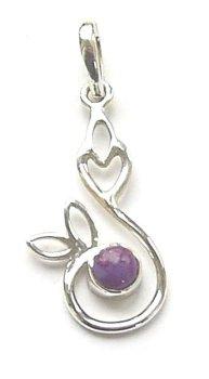 Purple Turquoise Swirl Gemstone Pendant