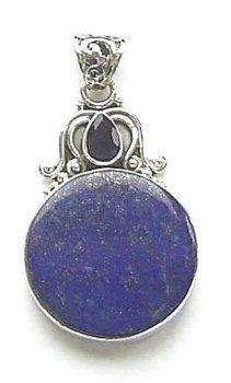 Lapis Gemstone Sterling Silver Pendant