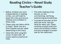 Reading Circles - Fiction Novel Pack