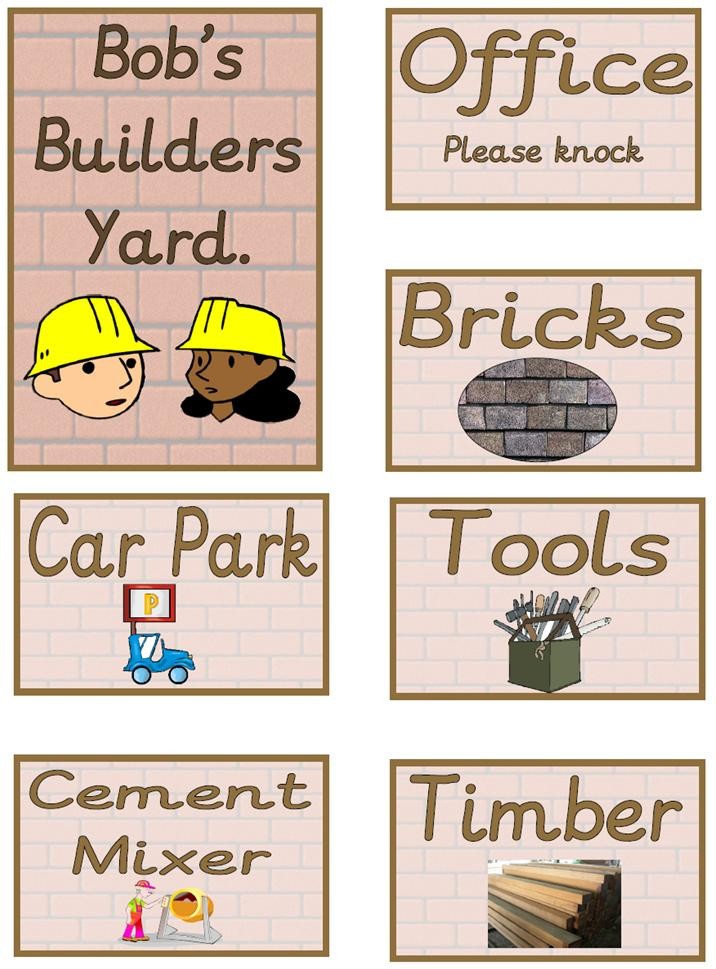 Role Play Pack - Builders Yard