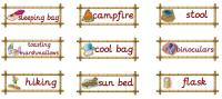 Role Play Pack - Camping Vocabulary