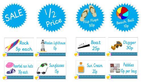 Role Play Pack - Seaside Souvenir Shop
