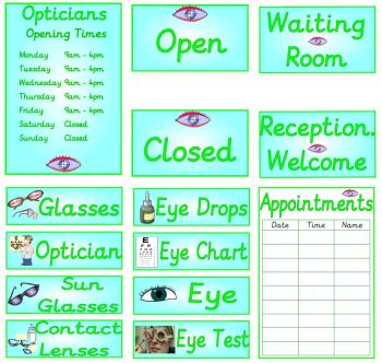 Role Play Pack - Opticians
