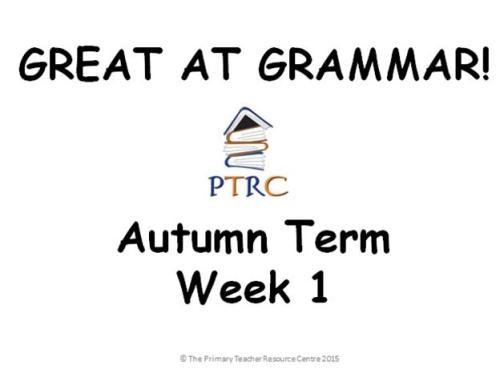 Year 1/2 Great at Grammar - Autumn Term Pack