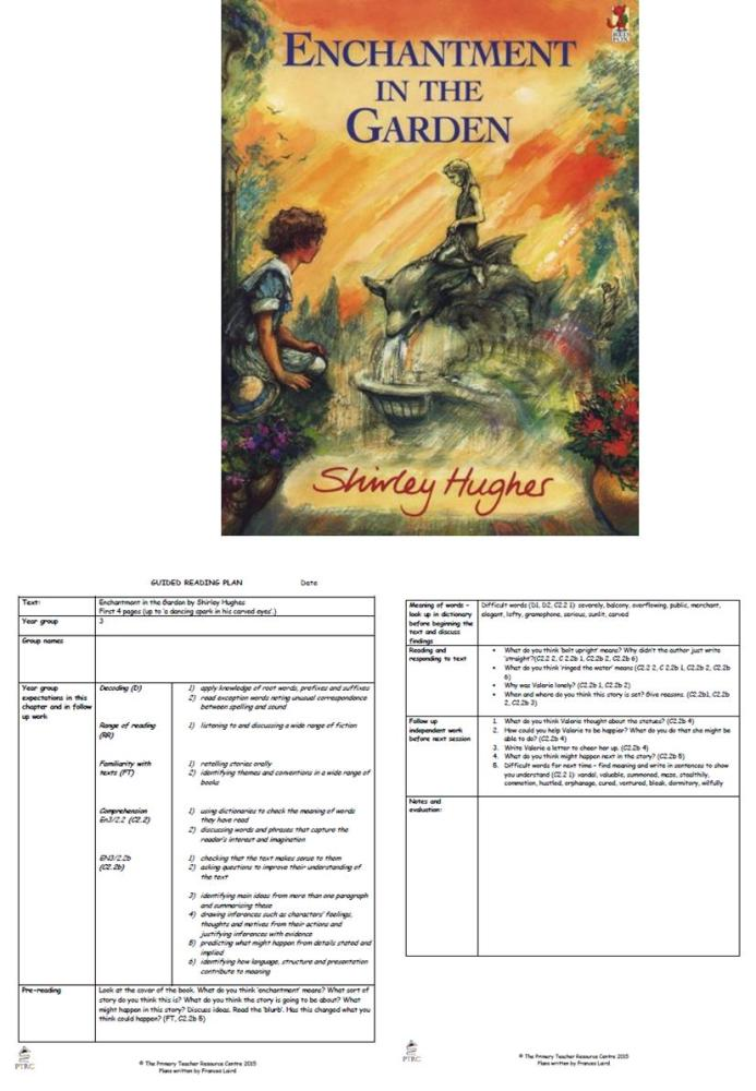 Enchantment in the Garden Guided Reading Plans