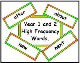 Year 1/2 High Frequency Vocabulary Pack