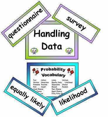 Maths Vocabulary - Handling Data Vocabulary Cards