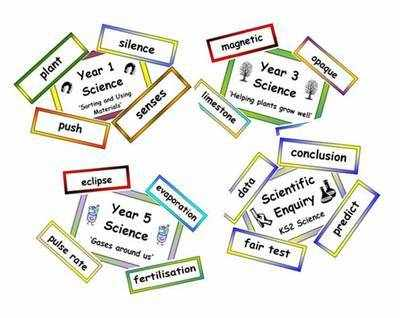 KS1 & 2 Science Vocabulary BUMPER Pack