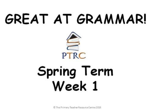 Year 1/2 Great at Grammar - Spring Term Pack