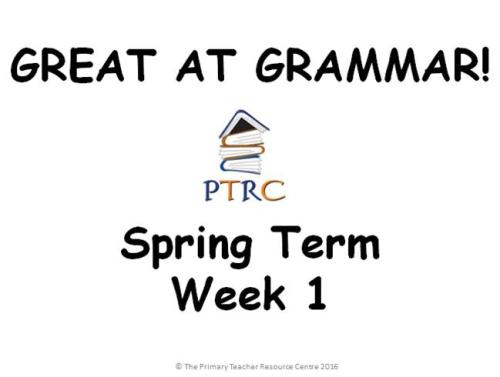 Year 5/6 Great at Grammar - Spring Term Pack