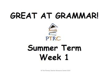 Year 3/4 Great at Grammar - Summer Term Pack