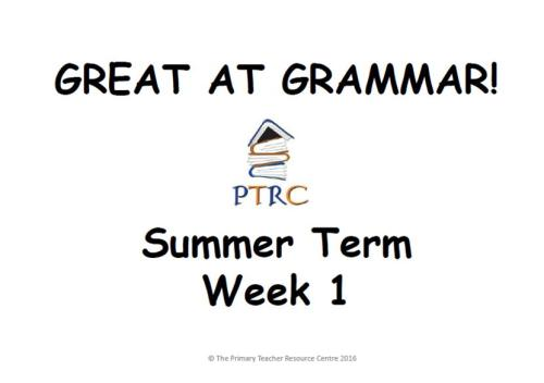 Year 1/2 Great at Grammar - Summer Term Pack