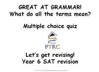 Great at Grammar - Grammar Multiple Choice Quiz and Activty SATs Revision Powerpoint