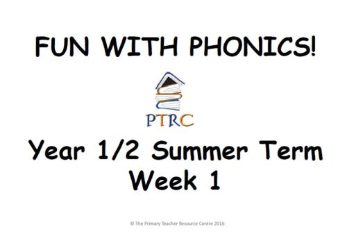 KS1 Fun with Phonics - Summer Term Pack
