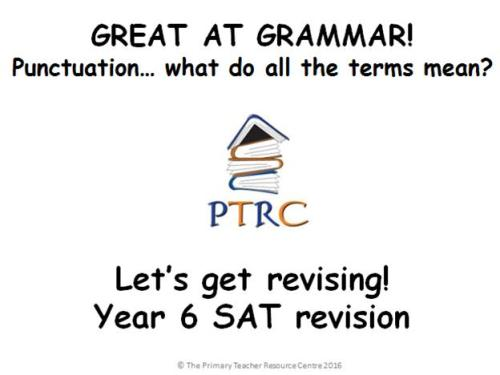 Great at Grammar - Punctuation Multiple Choice Quiz and Activty SATs Revisi