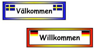 Welcome Labels in Different Languages