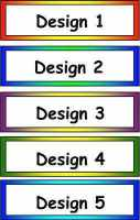 Blank Classroom Tray Labels - Coloured Border