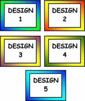 Blank Peg Labels - Coloured Border