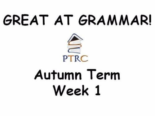 Year 3/4 Great at Grammar - Autumn Term Pack