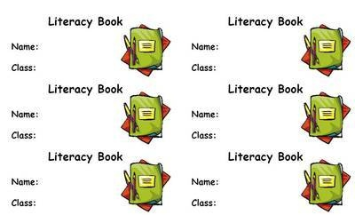 Literacy Book Label