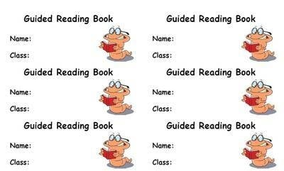 Guided Reading Books Guided Reading Book Label