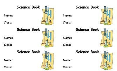 Science Book Label