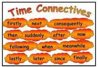 Time Connectives Mat
