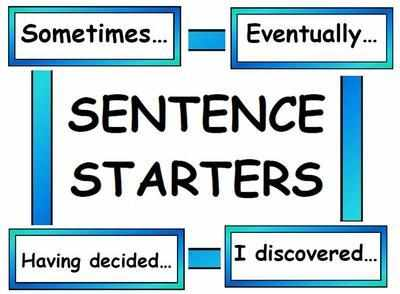 Sentence Starter Vocabulary Cards
