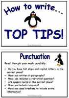 How to Write - Top Tips
