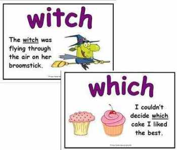 Which & Witch Literacy Display Posters