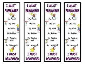 I Must Remember Bookmark