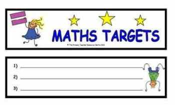 Maths Target Bookmark