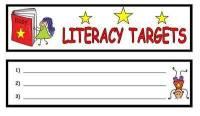 Literacy Target Bookmark