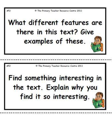 Reading Activity Cards - Non Fiction Pack