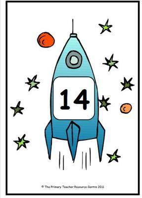 Number Display Posters - Rocket Pack