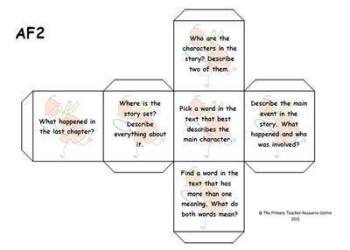 Guided Reading Activity Dice - Assessment Focus 2