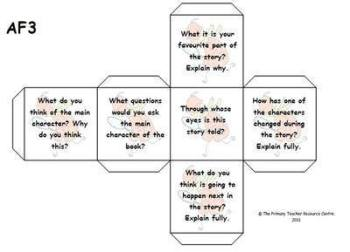 Guided Reading Activity Dice - Assessment Focus 3