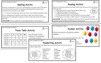 Year 3/4 Back 2 Basics Weekly Activities - Spring Term Pack