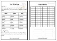 Year 5 Weekly Spelling Pack 1