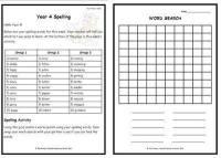 Year 4 Weekly Spelling Pack 2