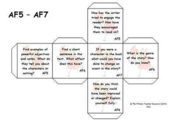Guided Reading Activity Dice - Assessment Focus 5-7