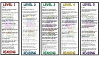 Level 1 - 5 Reading Bookmarks BUMPER Pack
