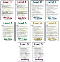 Level 1 - 5  Writing Target Cards