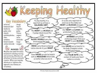 Keeping Healthy Science Fact Mat